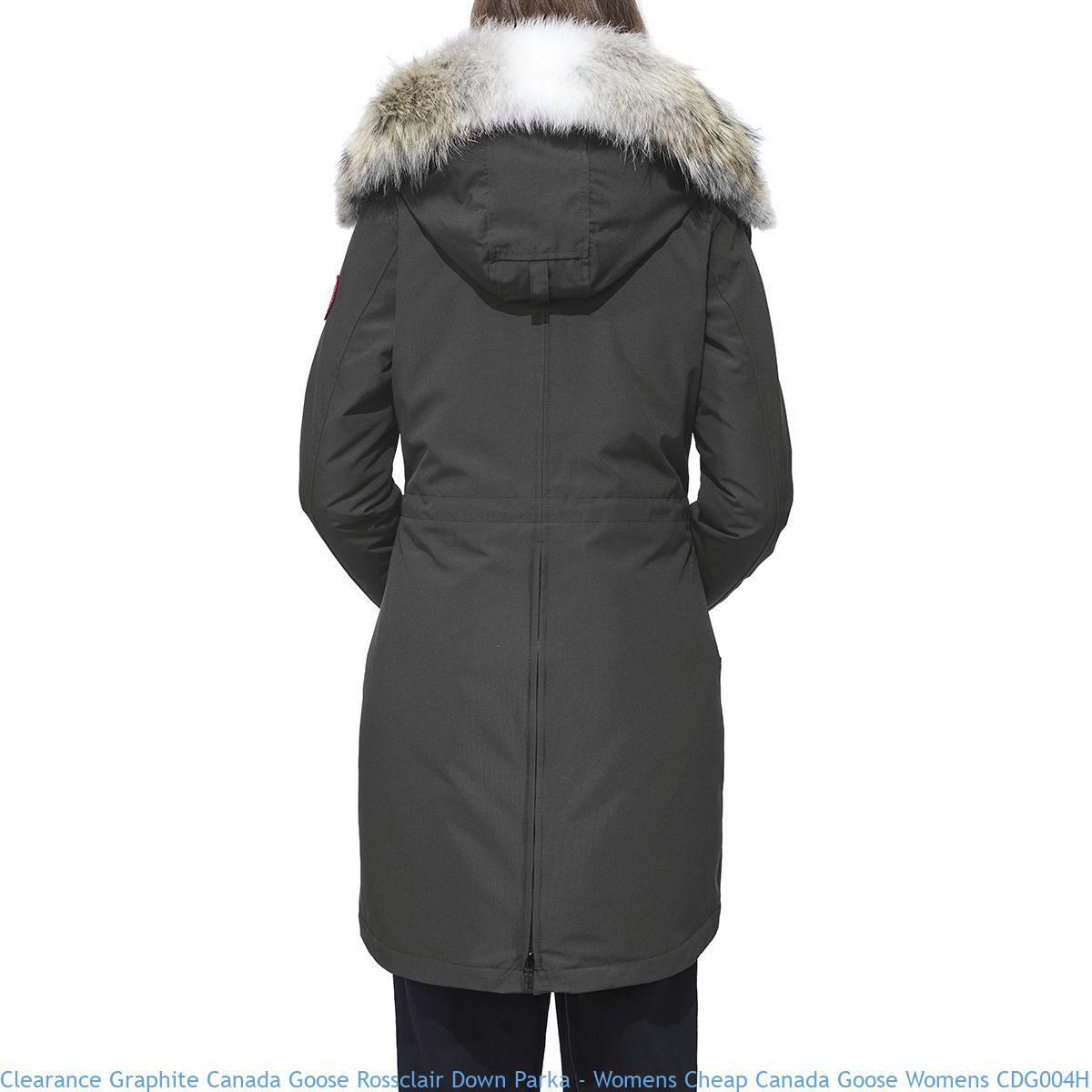 f7539722e Clearance Graphite Canada Goose Rossclair Down Parka – Womens Cheap ...