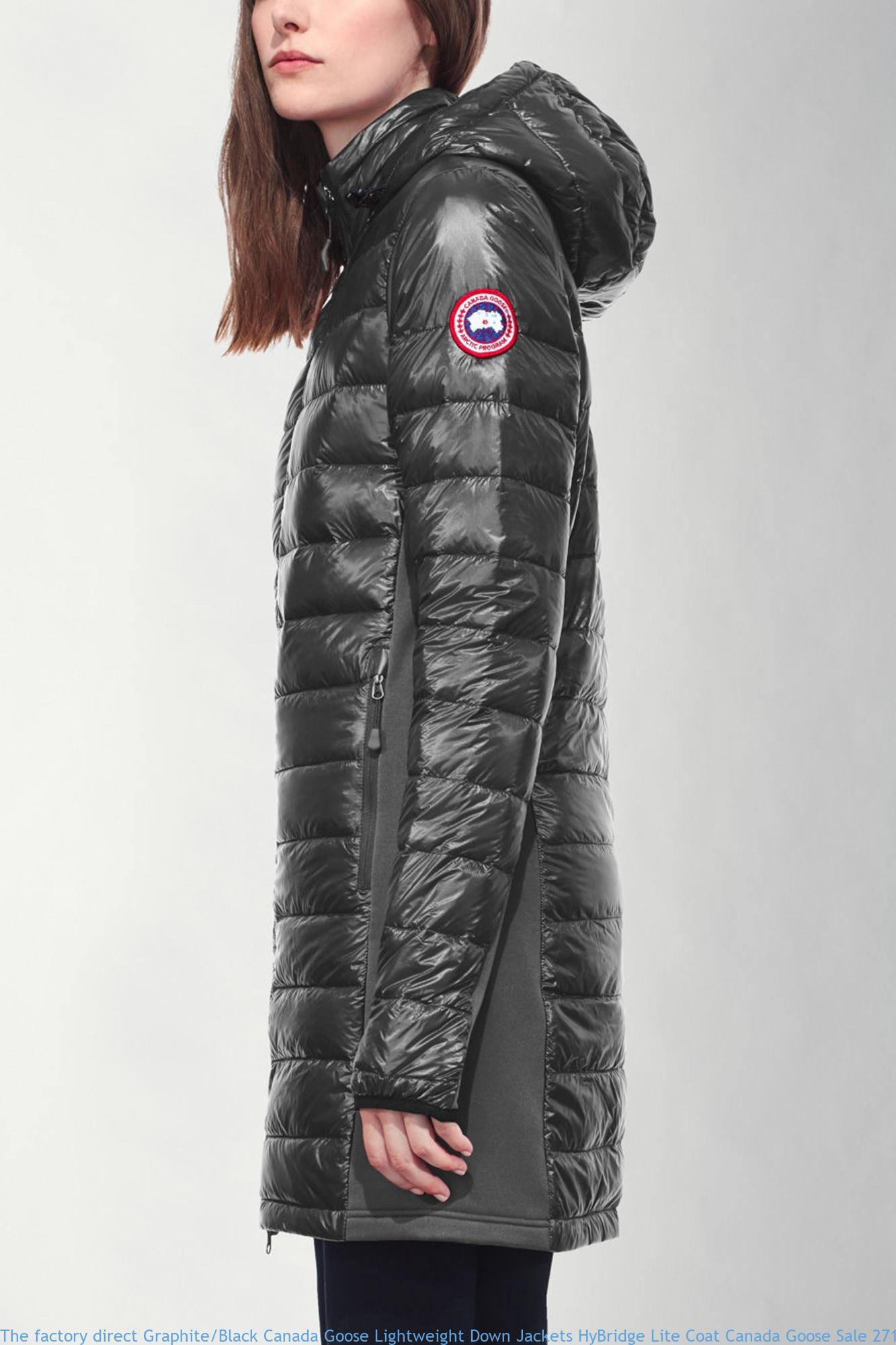 7caac248b84 The factory direct Graphite/Black Canada Goose Lightweight Down Jackets  HyBridge Lite Coat Canada Goose Sale 2710L